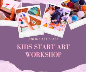 Kid Start Art Workshop is an art online workshop