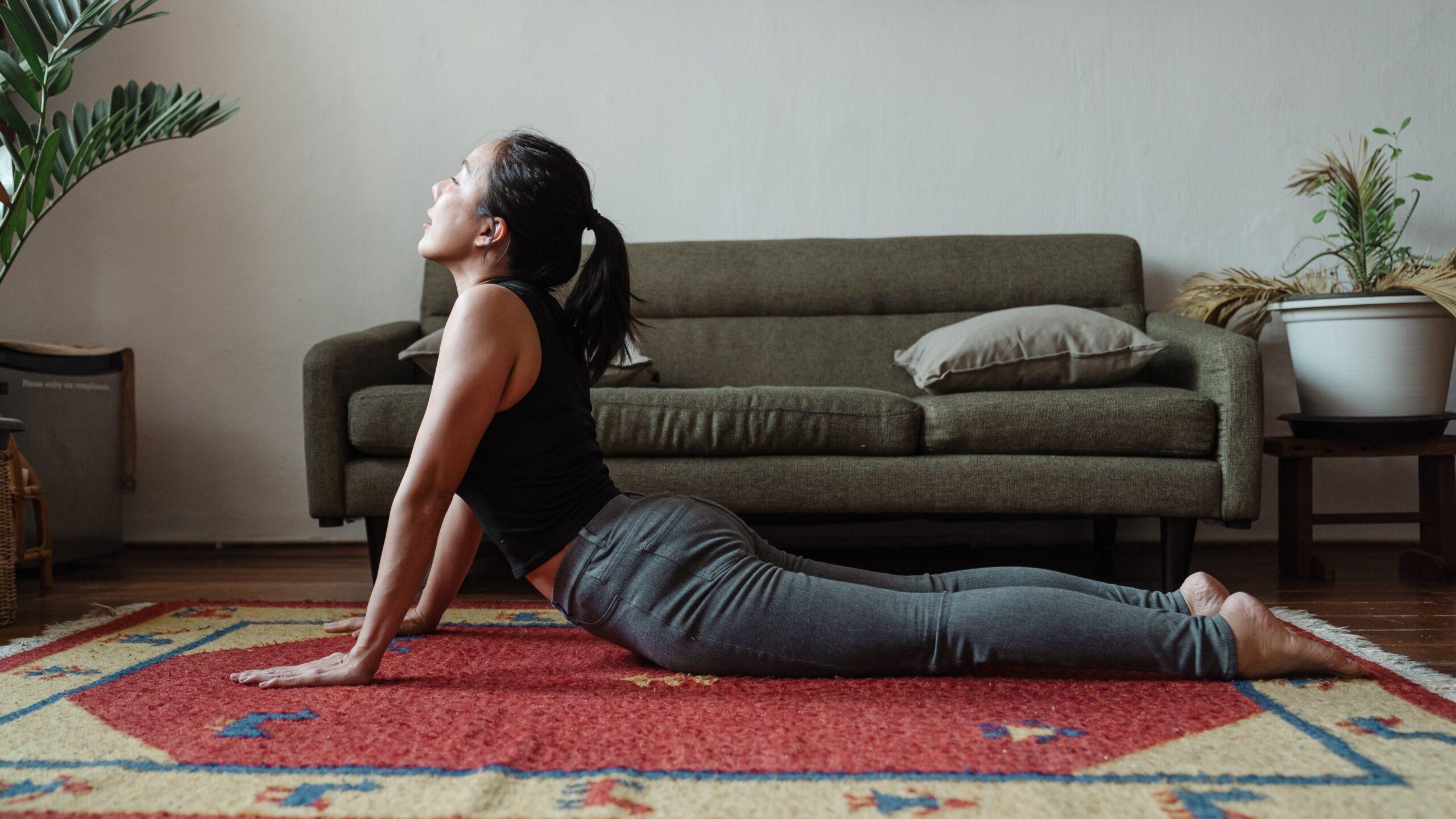 Woman doing Full Body Yoga Stretch